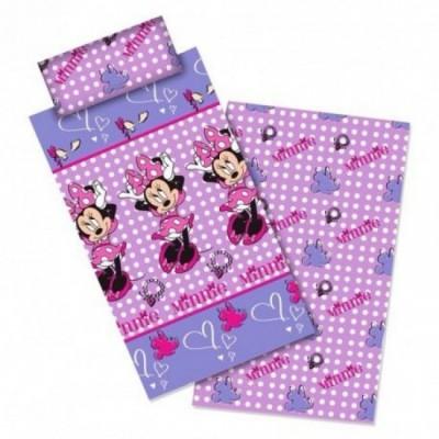 Jogo cama lençóis Disney Minnie Hearts