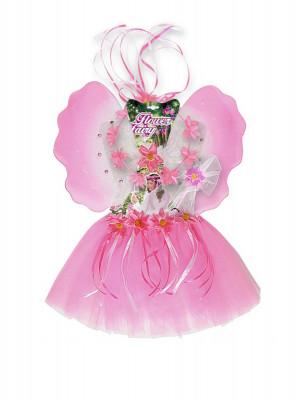 Kit Disfarce Fada Flores 3 - 6 anos