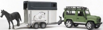 Land Rover Defender Station Wagon c/ reboque + cavalo Bruder