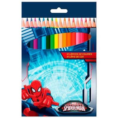 Lápis de 18 cores Ultimate Spiderman Marvel