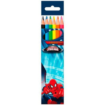 Lápis de 6 cores Ultimate Spiderman Marvel