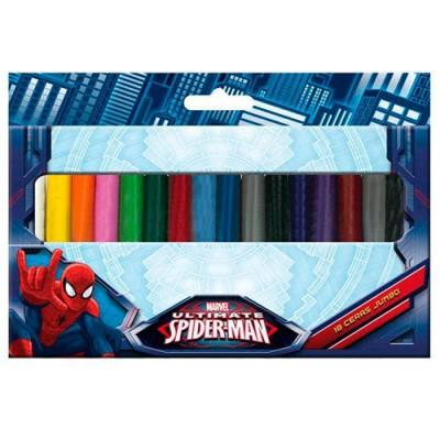 Lápis de cera 18 cores Ultimate Spiderman Marvel