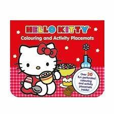 Livro para colorir com actividades Hello Kitty