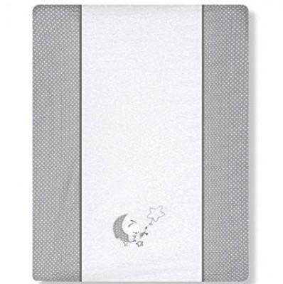 Lua cinza - Forra para muda fraldas bebé 50x72cm