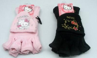 Luvas Polar Hello Kitty s/Dedos