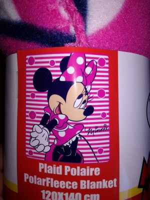 Manta Polar Disney Minnie Stripes