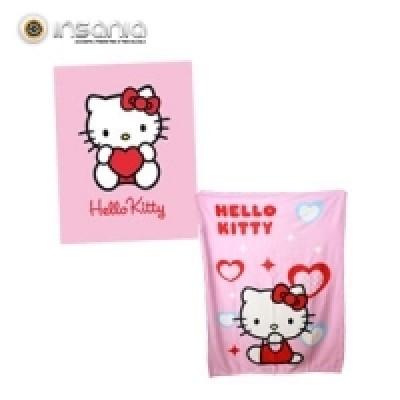Manta Polar Rosa Hello Kitty