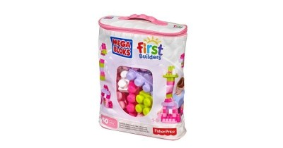 Mega Bloks - Bolsa Rosa Maxi 60 Peças