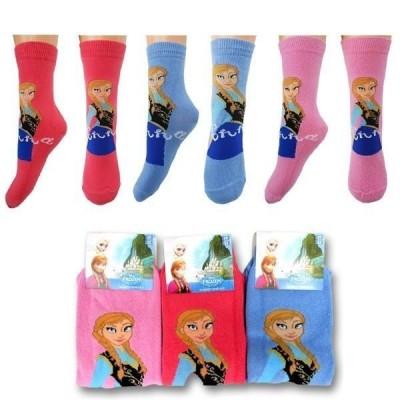 Meias Frozen Disney Anna 3 Cores