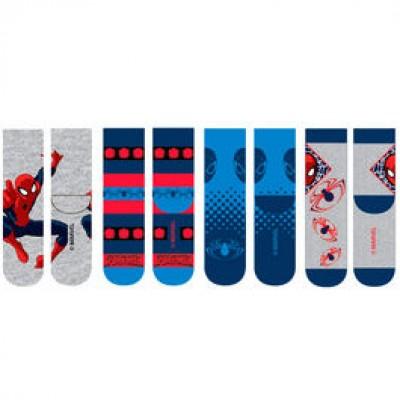 Meias sortidas Marvel Spiderman pack 12
