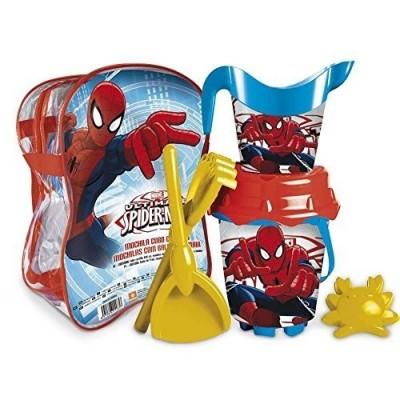 Mochila com Balde e acessorios  do Spiderman