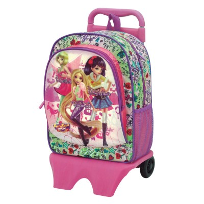 Mochila com Trolley 39 cm FTH Princesas Model