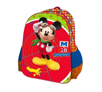 Mochila Escolar 3D Mickey Captain