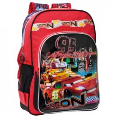 Mochila escolar adap trolley Disney Cars 95 Neon