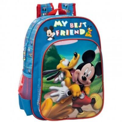 Mochila escolar adap trolley Mickey & Pluto Best Friends
