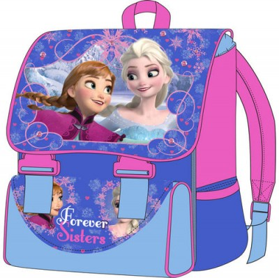 Mochila Escolar c/ aba Frozen Forever Sisters