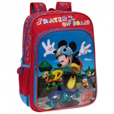 Mochila escolar Disney Mickey & Donald Skate