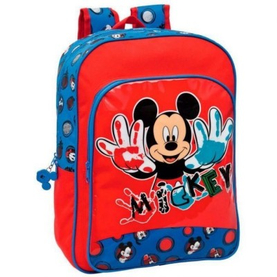 Mochila Escolar Disney Mickey Flash Adaptavel Trolley