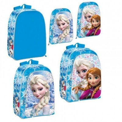 Mochila escolar Frozen Elsa duplo Bolso
