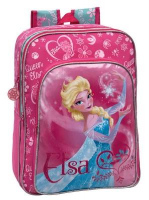 Mochila Escolar Frozen Elsa Pink Adap Trolley