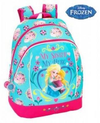 Mochila Escolar Frozen Sisters Forever Flower, adap trolley