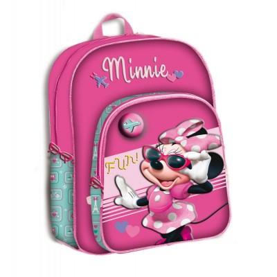Mochila escolar Minnie Disney Fun adaptável trolley