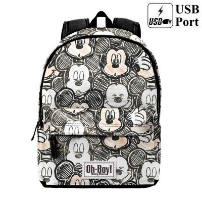 Mochila Escolar Premium 42cm Mickey - Oh Boy