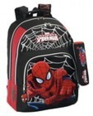 Mochila escolar Spiderman Black Adaptável Trolley