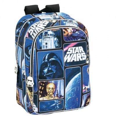 Mochila escolar Star Wars Space Adaptável 43cm