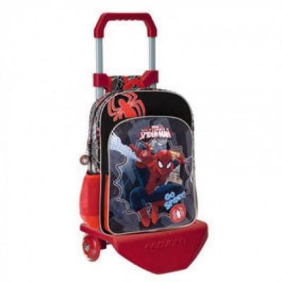Mochila escolar trolley 2 bolsos Marvel Spiderman Go Spidey