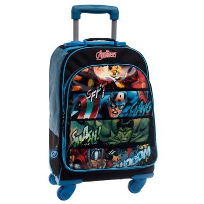 Mochila escolar trolley 4R Marvel Avengers Squares