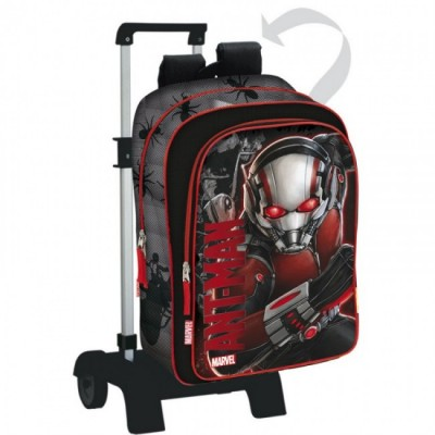 Mochila escolar trolley Ant-Man Marvel Red