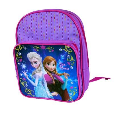 Mochila pre escolar c/ bolso Frozen Sisters Night