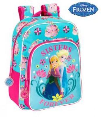 Mochila Pre Escolar Frozen Sisters Forever Flower, adap trolley