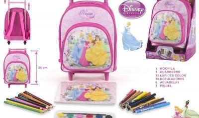 Mochila pré-escolar Princesas c/ acessórios