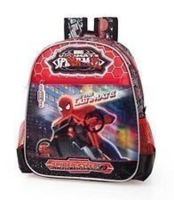 Mochila Pre Escolar Spiderman Moto premium