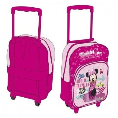Mochila Pre Escolar Trolley Minnie World Traveler