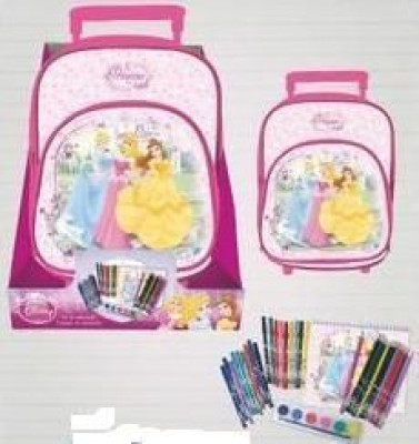 Mochila Trolley e Conjunto Escolar Princesas Disney