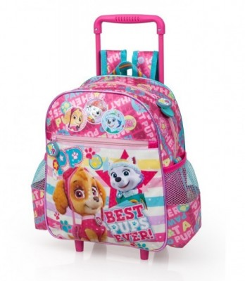Mochila trolley pré escolar premium Skye Patrulha Pata Best Pups Ever