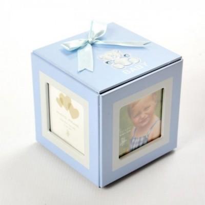 Moldura Cubo Azul