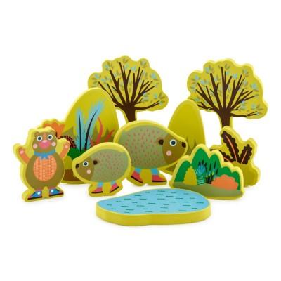 Oops Brinquedo Banho 20 pçs Floresta