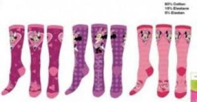 Pack 12 meias Disney Minnie Sortido
