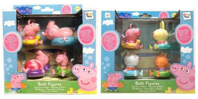 Pack 4 Figuras Banho Porquinha Peppa Sortido