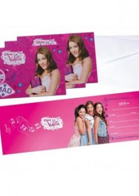 Pack 6 convites Violetta Disney