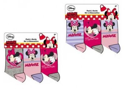 Pack de 3 meias sortidas Disney I Love Minnie