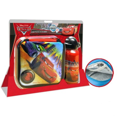 Pack Disney Cars Lancheira + Cantil