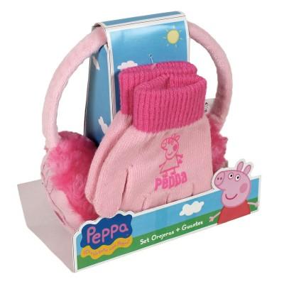Pack luvas + tapa-orelhas Porquinha Peppa