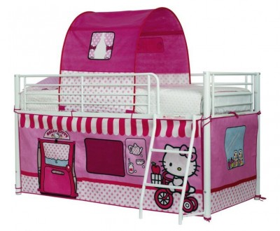 Pack tenda Hello Kitty para cama ou beliche