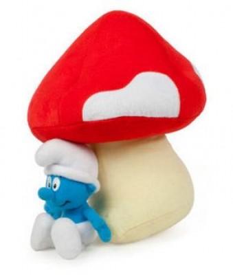 Peluche Cogumelo e smurf 35cm