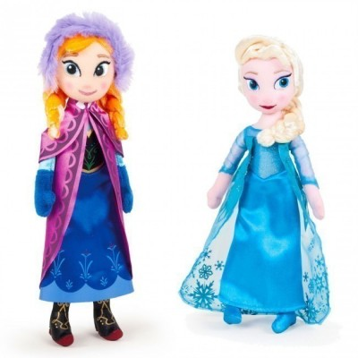 Peluche Elsa ou Anna Frozen 40cm